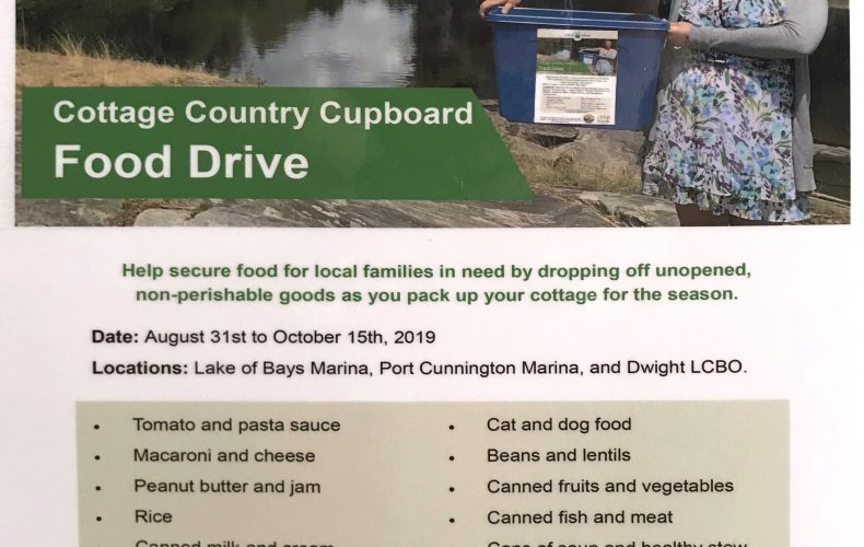 Cottage Country Cupboard Food Drive